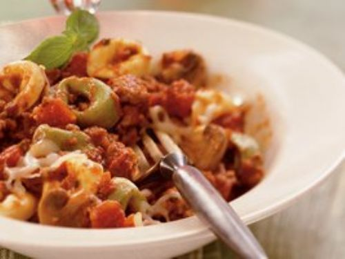 Slow Cooker Cheesy Italian Tortellini