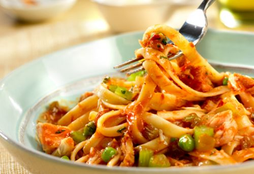 Spicy Tuna & Tomato Sauce with Fettuccine