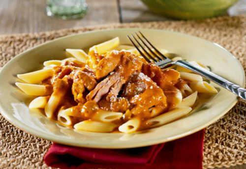 Creamy Blush Sauce with Turkey & Penne