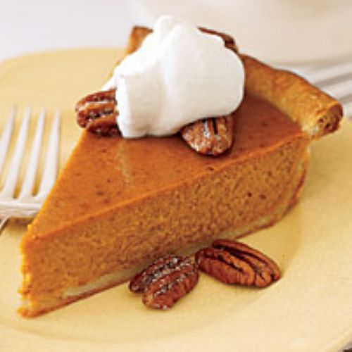 Banana-Pumpkin Pie with Bourbon Whipped Cream