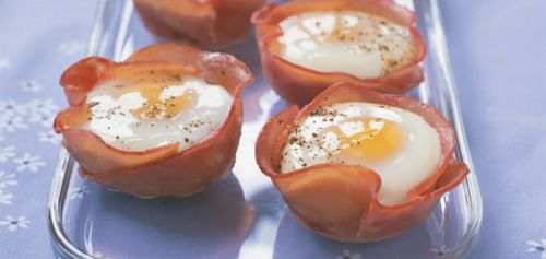 Ham and Egg Cups with an Arugula Salad