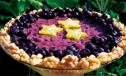 NoBake Blueberry Pie