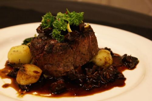 Filet of Beef with Portobello Daube